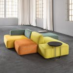 Modular Angular Bifacial Group Medium Sofa by Il Loft in Modular Sofas