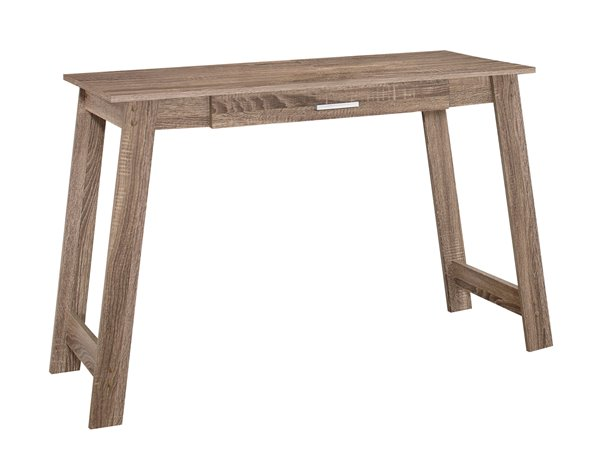 Monarch Specialties | Monarch 42.00-In X 29.25-In Taupe Reclaimed Wood-Look Computer Desk | Rona