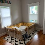 Montessori Floor Bed With Rails & slats Twin Size