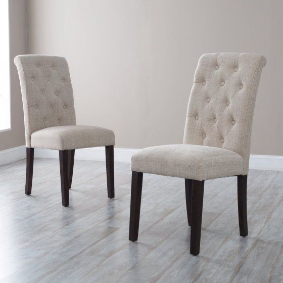Morgana Tufted Parsons Dining Chair – Set of 2 – Walmart.com