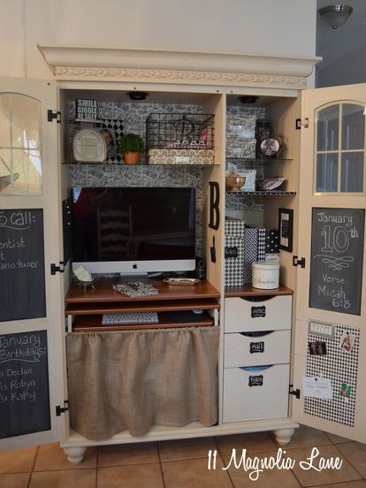 My Decorated and Organized Computer Armoire/Workstation – https://pickndecor.com/interior
