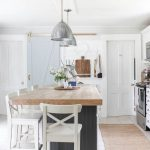 My Kitchen Style / loving this gorgeous white farmhouse kitchen with wooden coun...
