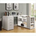 Natural Reclaimed-look Corner Desk (NATURAL RECLAIMED-LOOK LEFT OR RIGHT FACING DESK), Black
