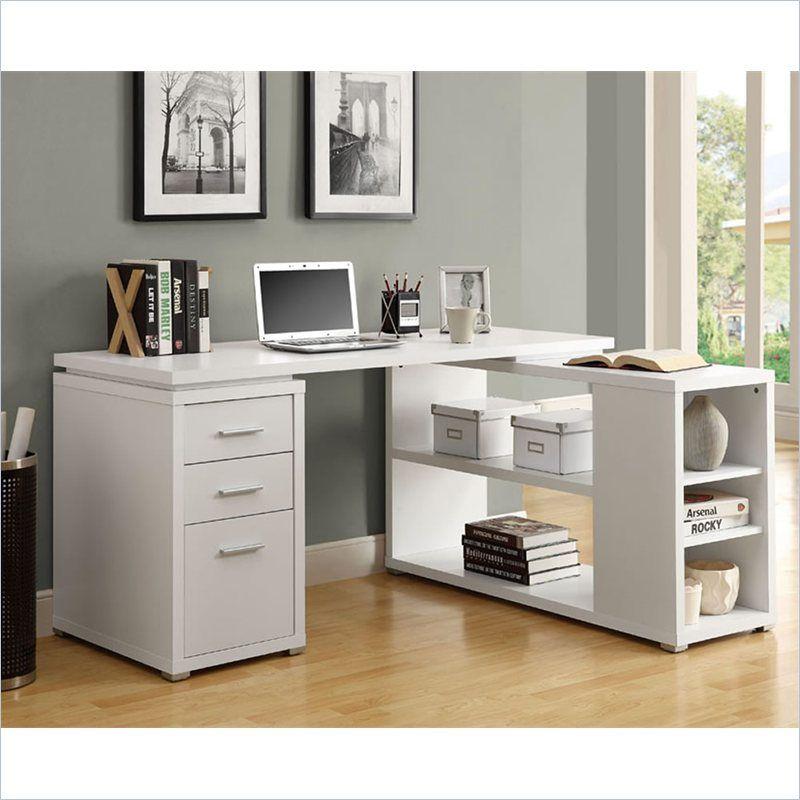 Natural Reclaimed-look Corner Desk (NATURAL RECLAIMED-LOOK LEFT OR RIGHT FACING DESK), Black
