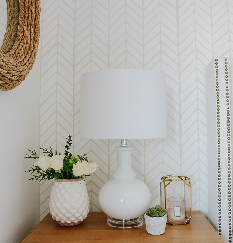 Neutral + Cozy Master Bedroom with Wallpaper: The Reveal – 1111 Light Lane