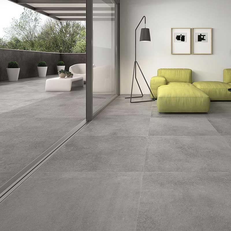 Nevis Grey Inside-Outside porcelain tiles