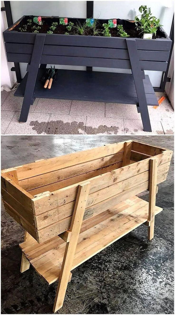 New Projects for Wood Pallet Reusing – Planters – Ideas of Planters #Planters – …
