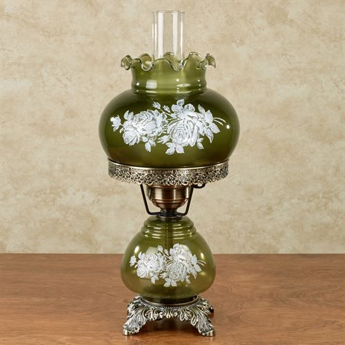 Nicci Deep Sage Hurricane Table Lamp