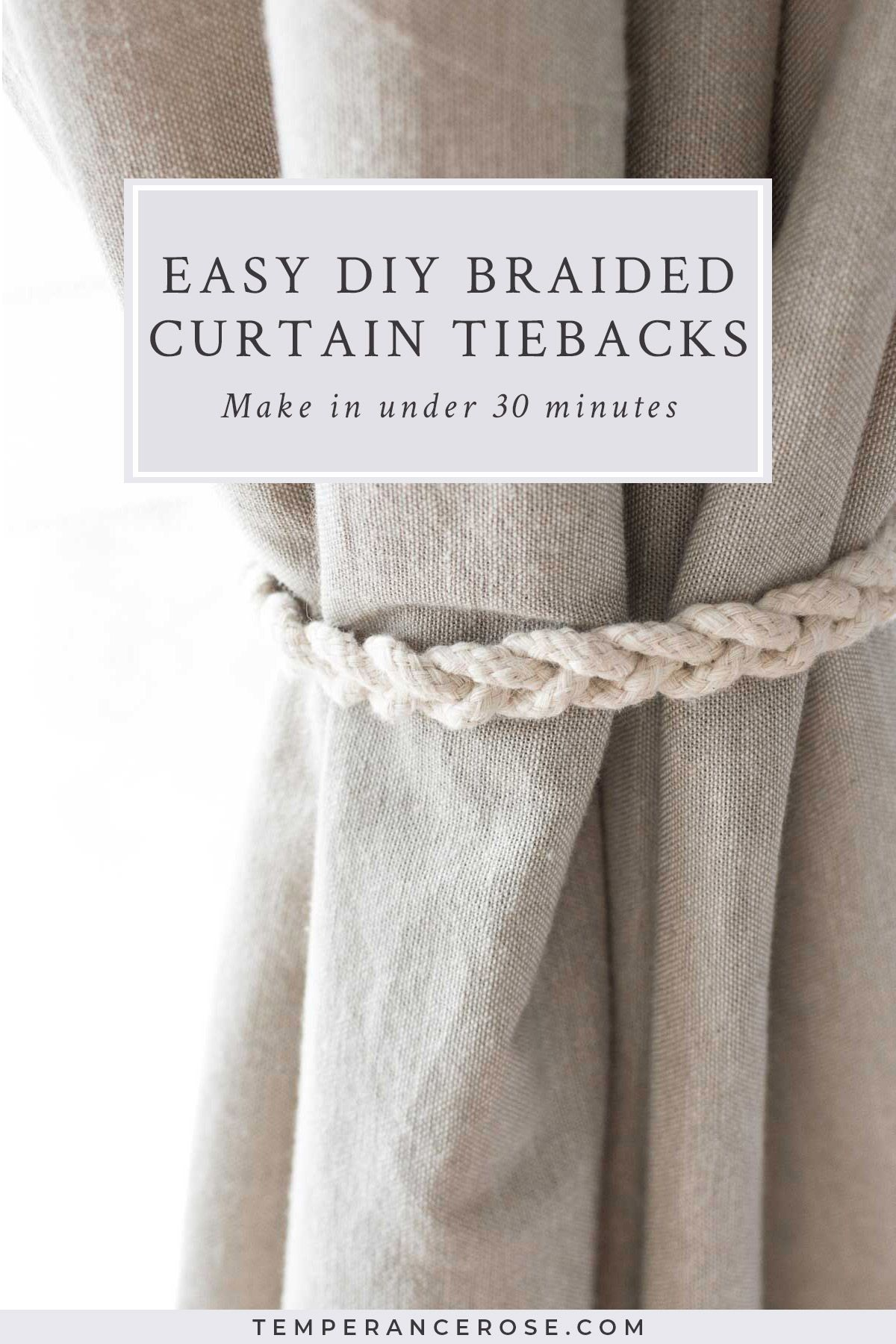 No-sew braided curtain tiebacks