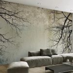 Nordic Style Tree Branches Mural Wallpaper (㎡)