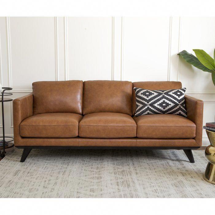 Norvin Leather Sofa