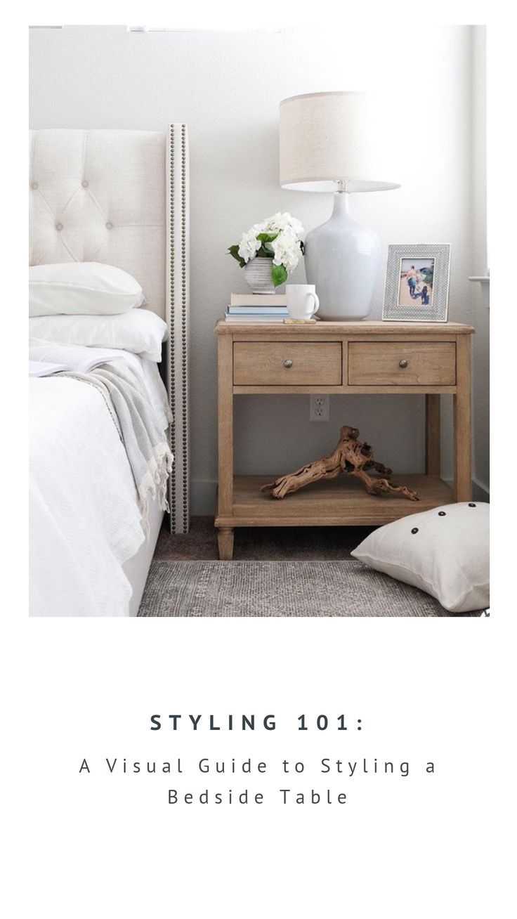 Not sure what to put on that bedside table? Here is a visual guide for creating …