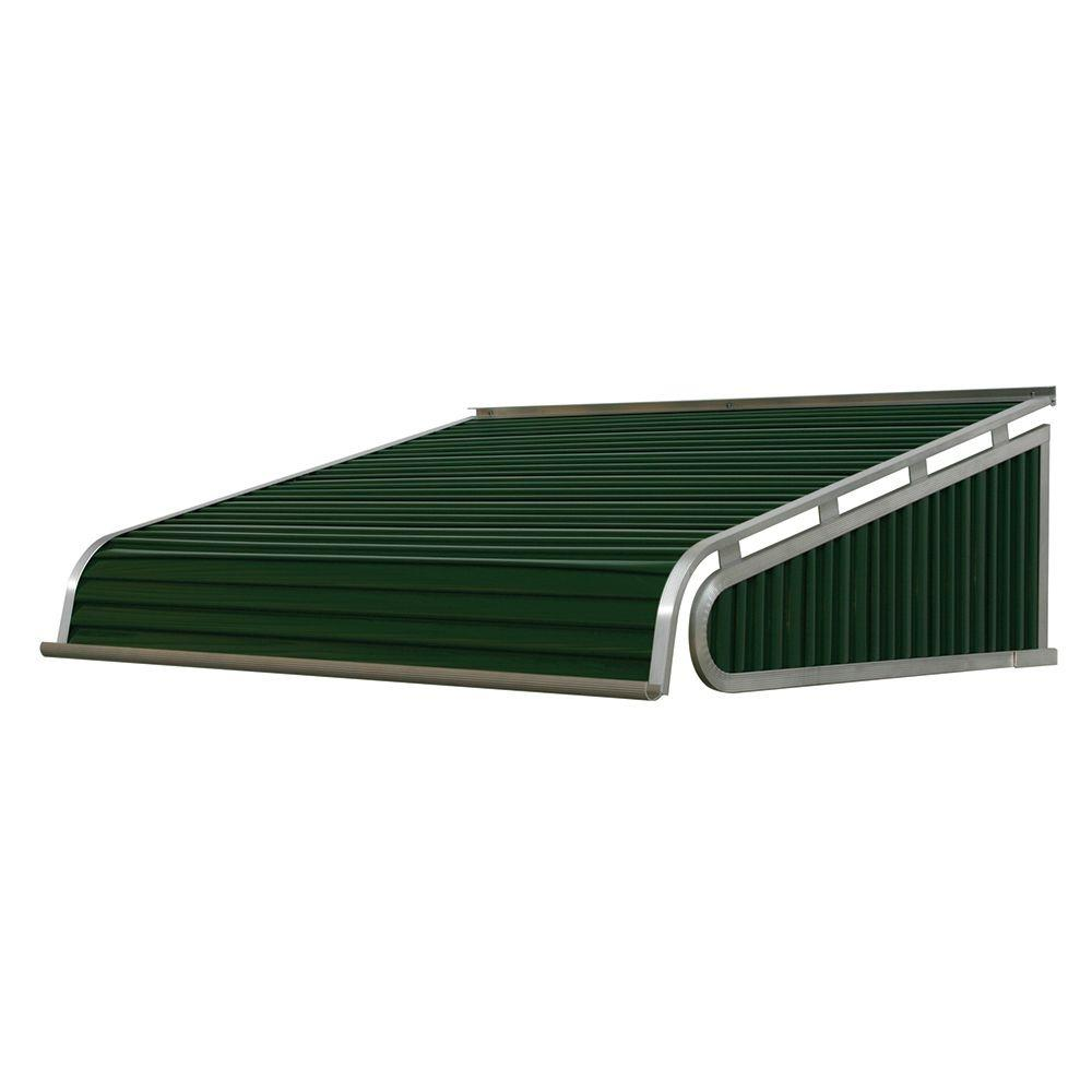 NuImage Awnings 4 ft. 1500 Series Door Canopy Aluminum Awning (12 in. H x 42 in. D) in Evergreen-K150704825 – The Home Depot