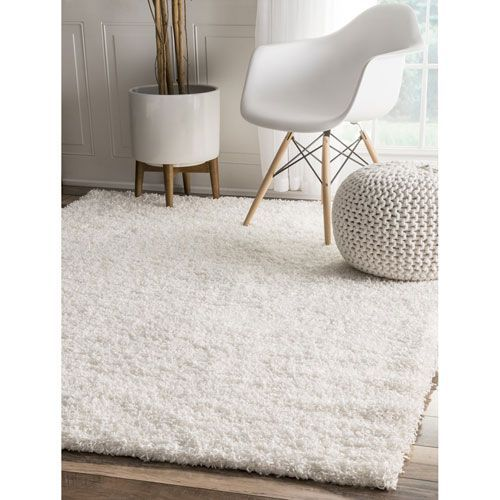 Nuloom Cine Shaggy Tan Rectangular: 4 Ft. X 6 Ft. Rug Shg1 406 | Bellacor