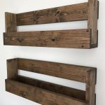 Nursery Kids Room Bookshelves Set of Two, Book Shelves Wall Mount Rustic Storage, Wall Hanging Shelves Playroom, Back To School Book Shelves