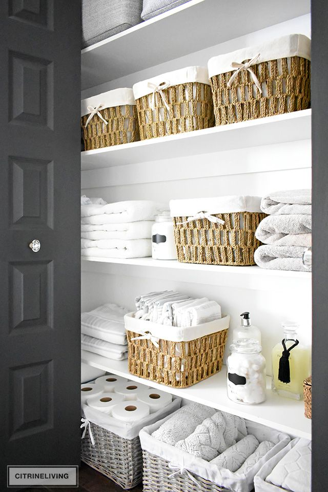 ORGANIZED LINEN CLOSET: THE REVEAL – CITRINELIVING