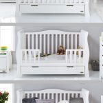 Obaby Stamford Luxe Sleigh Cot Bed - White  . . . #baby #nursery #babynursery #c...