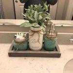 Oil Rubbed Bronze Bathroom Set, Mason Jar Bathroom Set, Rustic Bathroom Decor, Bathroom Decor, Housewarming Gift, Kitchen Decor, Home Decor