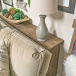 One More Problem Solved In My Family Room – How To Build A Farmhouse Sofa Table - pickndecor/home