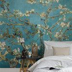 Our Almond Branches by Van Gogh Wallpaper is a depiction of one of the great art... - Living Room