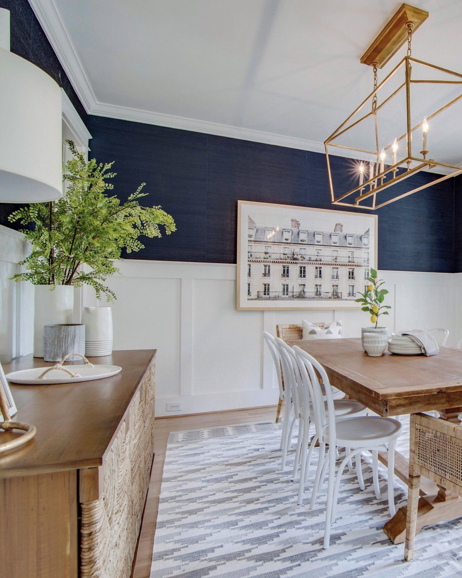 Our Navy Dining Room