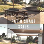 Our Patio Makeover | Installing Shade Sails - My Happy Simple Living