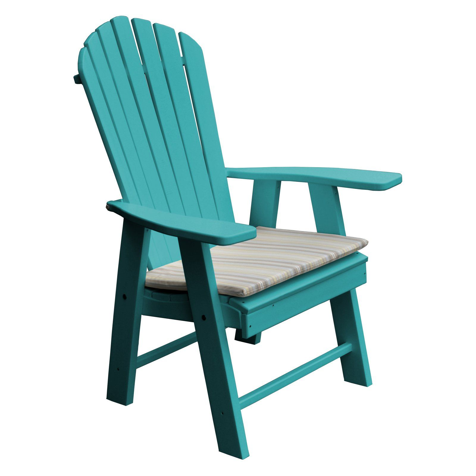Outdoor Radionic Hi Tech Newport Recycled Plastic Adirondack Patio Chair White