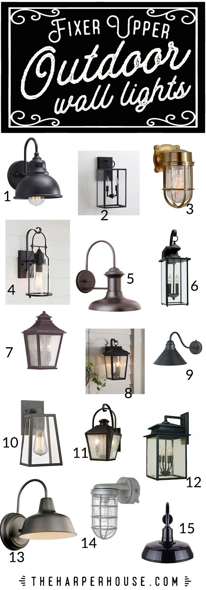 Outdoor Wall Lights – Fixer Upper Style | The Harper House