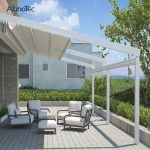 Outdoor Wind Resistance Waterproof Aluminium PVC Retractable Awning Roof with LE...