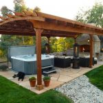 Outdoor. Unique Backyard Hot Tub Ideas. Fascinating Lounge Outdoor Gazebo Ideas ...
