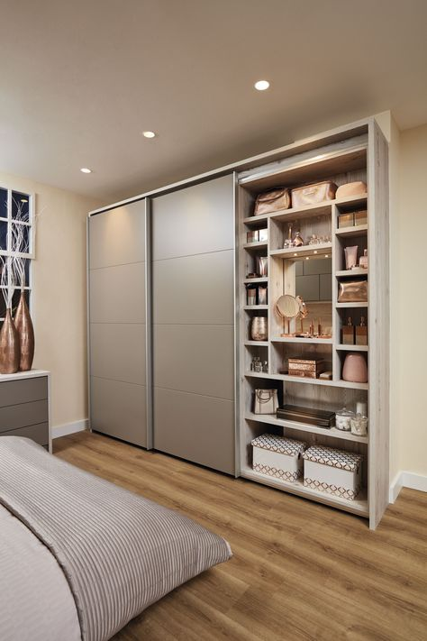 Over Bed Storage | Contemporary Willow Bedroom | Neville Johnson