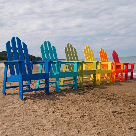 POLYWOOD® Long Island Recycled Eco-Friendly Plastic Adirondack Chair – Walmart.com
