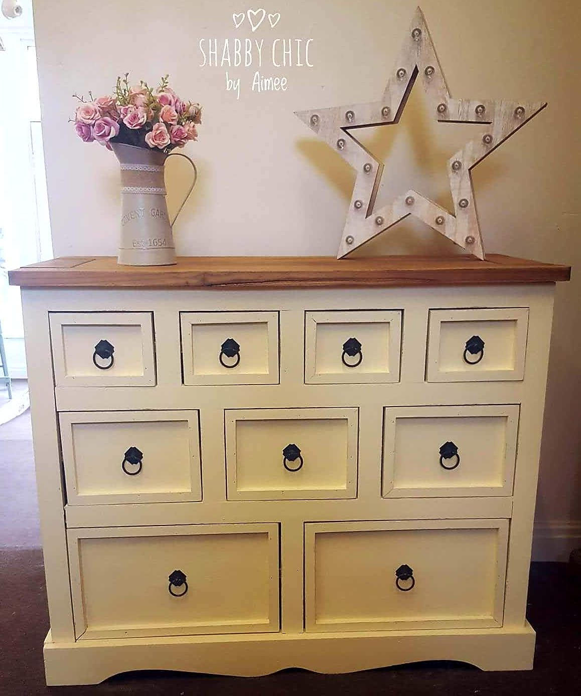 Paint your Mexican pine with chalk paint.