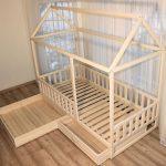 Painted toddler bed, children bed, Montessori bed, kid bed, wood bed, children home, waldorf toy, nursery crib, kids bedroom, floor bed - pickndecor.com/furniture