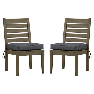 Parkview 5pc Rectangle Wood Patio Dining Set w/ Cushions – Gray/Gray – Inspire Q