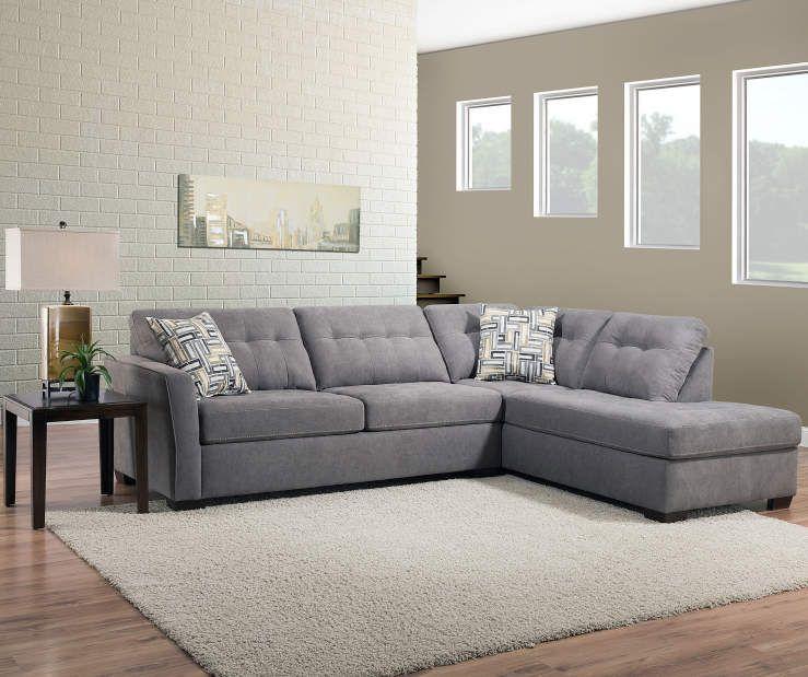Pasadena Gray Living Room Sectional – Big Lots