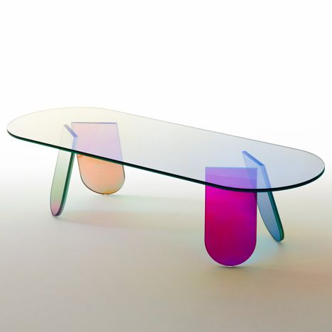 Patricia Urquiola coats furniture with an iridescent sheen