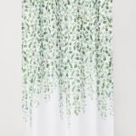Patterned Shower Curtain - White/leaf-patterned -  | H&M US