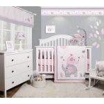 Penney Elephant Baby Nursery 6 Piece Crib Bedding Set
