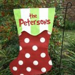 Personalized Christmas Stocking Garden Flag