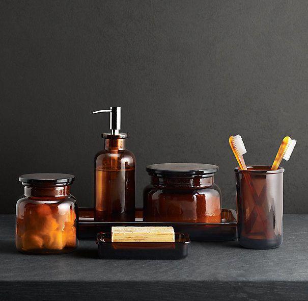Pharmacy Glass Bath Accessories
