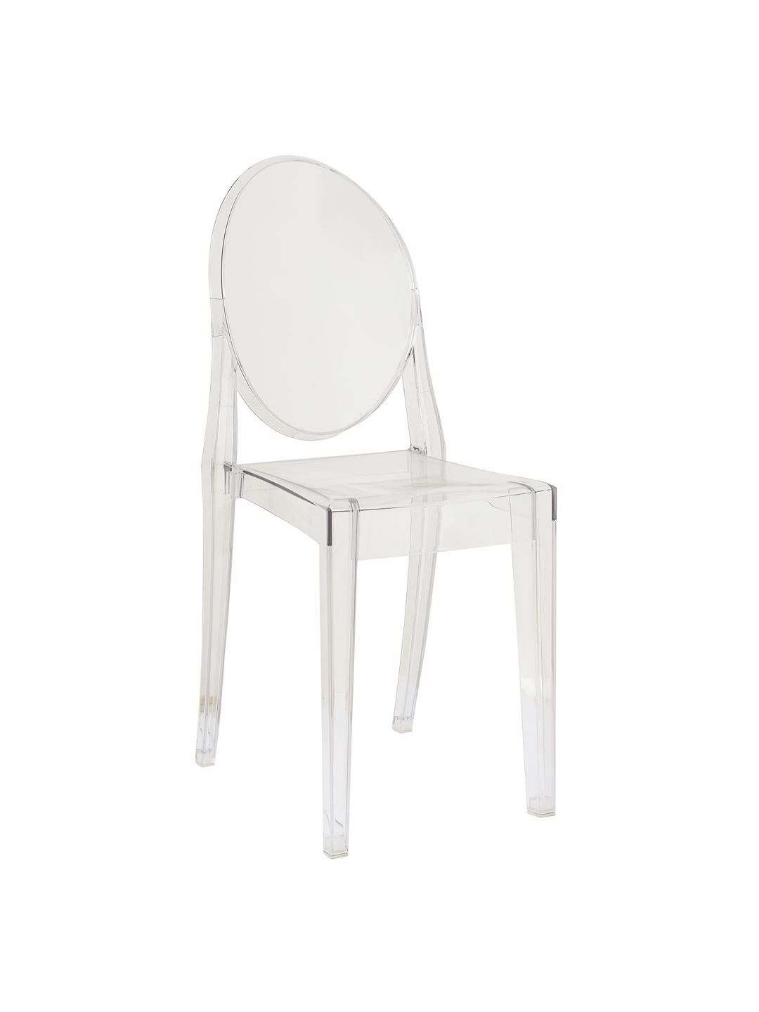 Philippe Starck for Kartell Victoria Ghost Chair, Crystal