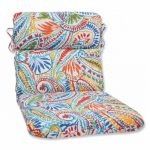 Pillow Perfect 572659 Ummi Multi Rounded Corners Chair Cushion