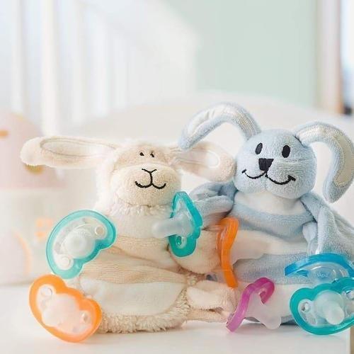 Pink Bunny Rabbit Sleepytot Baby Comforter Toy Soother Holder