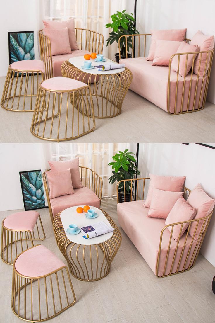 Pink Sofa Set
