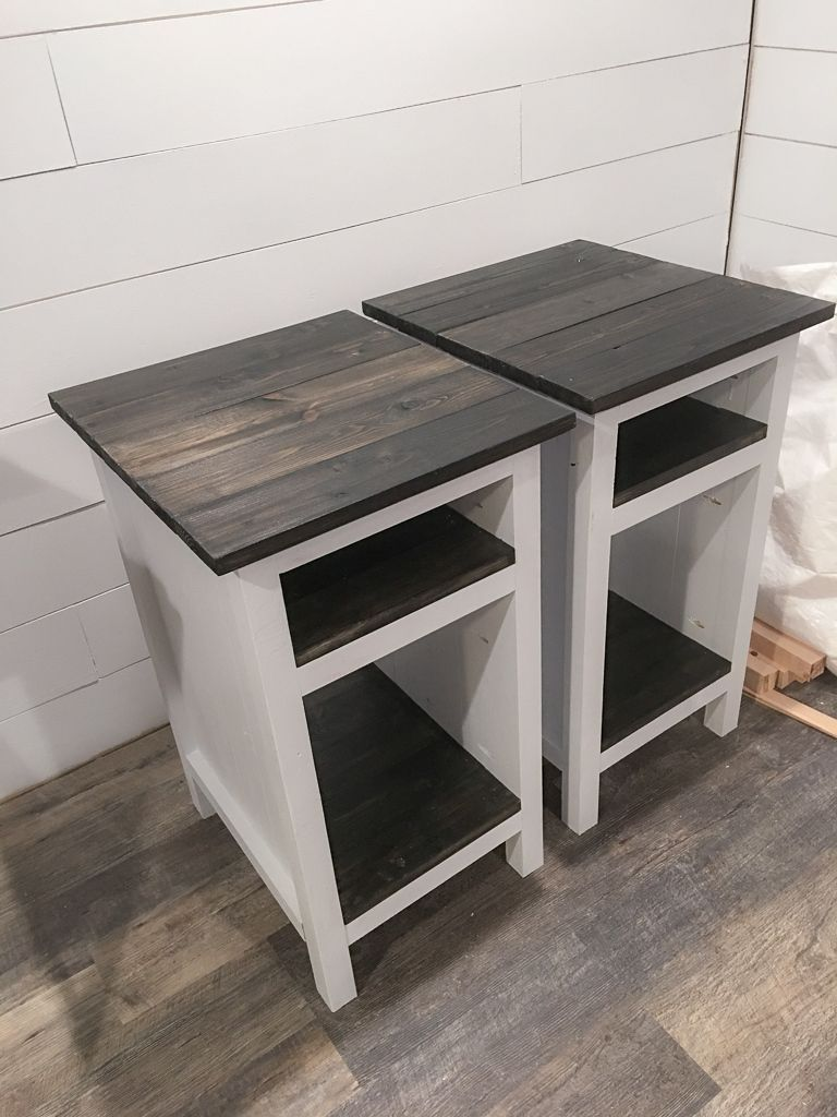 Planked Wood Bedside Table with Shelves | Ana White