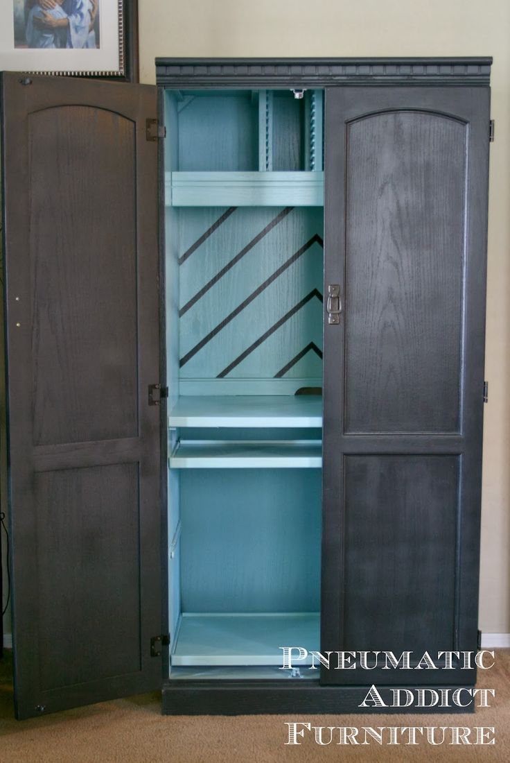 Pneumatic Addict #Furniture: Computer #Armoire With a Twist. #diyprojects #diyid…
