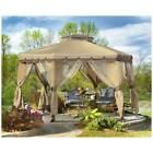 Portable Gazebo Canopy Mosquito Netting Backyard Shelter Sun Protection 12x12  | eBay