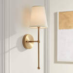 "Possini Euro Elena 21"" High Warm Brass Wall Sconce - #24M95 | Lamps Plus"