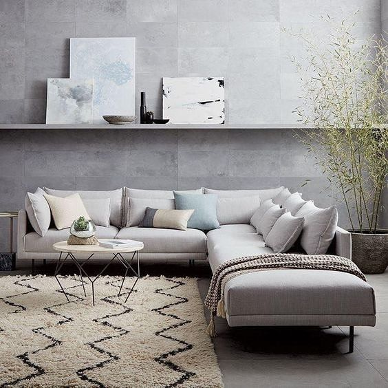 """Priyal Seth on Instagram: """"Implementing the furniture in the right space is as important as lay outing the space. Choose your own shades of the L shape sitting!…"""""""